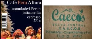 Cafe Altura tilapäisesti Perusta, ks. artikkeli kahviruosteesta